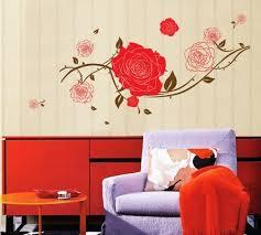 diy rose wall art sticker home decor removable wallpaper