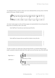 Lever Harp Key Chart Sight Reading For Lever Harp Beginner Music Sheet Download