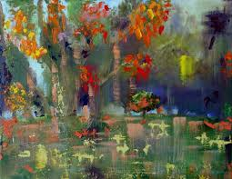 saatchi art artist bhavna misra painting autumn garden abstract fl decorative oil