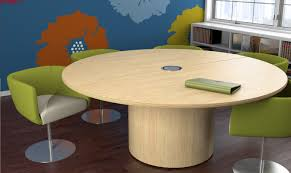 full size of tables cool round conference tables engineered wood construction light oak finish pedestal