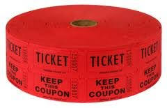 2 part raffle tickets amazon com two 2 rolls of two part red double roll raffle