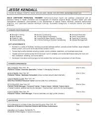 Resume For Personal Trainer Stunning Yoga Instructor Resume From Fitness Examples Download Now Personal