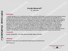 snyder general arco aire how to determine the age or manufacture snyder general history