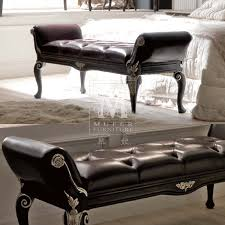 bedroom luxurious espresso bedroom bench design with rolled arms set and foamy seat with leather bed bench furniture