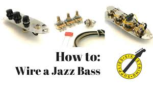 jazz bass wiring how to wire a fender jazz bass youtube fender precision bass wiring diagram jazz bass wiring how to wire a fender jazz bass