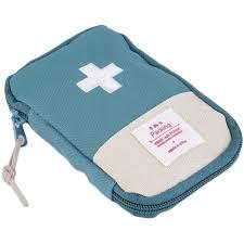 Ultra Light Pills Vidisa Ultra Light Sturdy Blue First Aid Bag Pouch Pill Case