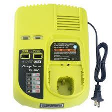 Ryobi P117 No Lights P117 Dual Chemistry Intelliport Charger Li Ion Ni Cad Ni Mh Battery Charger 12v 18v Max For Ryobi One Plus 2 Usb Ports