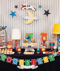 goodnight moon baby shower dessert table