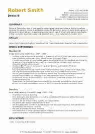 Dentist Resume Samples Qwikresume