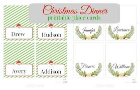 christmas placecard templates christmas place card templates invitation template
