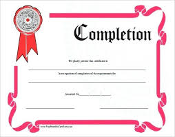 Certificate Of Training Completion Template Course Com Certificate Format Word Awesome Template