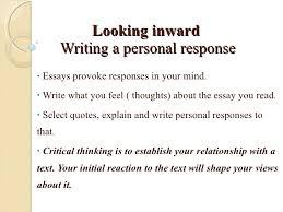 reader response essay outline
