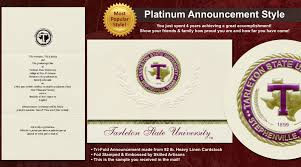 Tarleton State University Graduation Announcements
