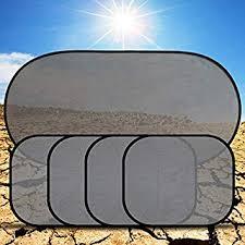<b>5Pcs</b>/<b>Set</b> Pinstripe Mesh Car Sun Visor Shield Front/Back/Side ...