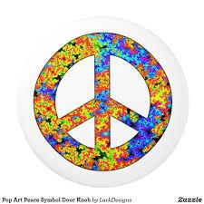 Pop Art Peace Symbol Door Knob | Door knobs, Doors and Diy patio