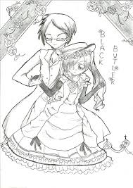 black butler coloring pages rallytv org for alluring