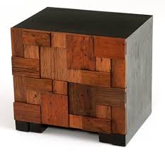 urban rustic furniture. mosaic block end table or nightstand urban rustic furniture d