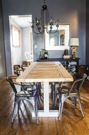 turn an old door into your new dining room table