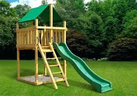 simple wooden swing set absurd kits plans com decorating ideas diy playground
