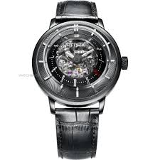 """skeleton watches men s ladies watches watch shop comâ""""¢ mens fiyta 3d time skeleton limited edition automatic watch ga8606 bbb"""