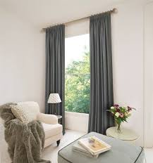 pencil pleat ready made curtains in solitaire 100 cotton