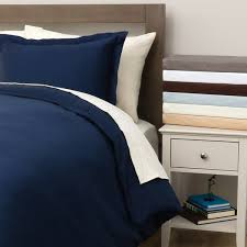 hemstitch 400 thread count solid cotton 3 piece duvet cover set
