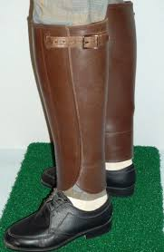 vintage genuine leather snake gaiters leg shin guards protection horse riding