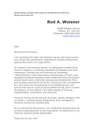 Sample Child Care Worker Cover Letter Child Care Cover Letter For