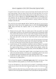 how to upgrade a 2011 2012 chevrolet captiva radio