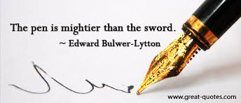 pen is mightier than the sword  the pen is mightier than the sword