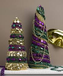 festive diy mardi gras decorations made with mardi gras beads
