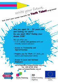 youth talent action west london ongoing support in employment or training support