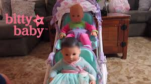 american girl bitty baby double stroller unboxing detail bitty baby dolls go for a stroll