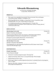 Openoffice Resume Templates 8 Free Openoffice Resume Templates Ott Format  Template