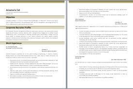 Corporate Recruiter Resume