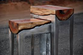 furniture made from tree trunks. tree trunks fused with cast aluminum by hilla shamia1 furniture made from