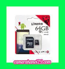 Thẻ nhớ Microsd 64GB Kingston Class 10 - Phân Phối Camera chuyên nghiệp