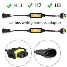 2pcs h11 h9 h8 led headlight canbus wiring harness adapter anti Wiring Re232bus at Can Bus Wiring Harness