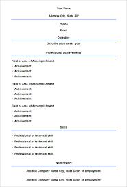 Blank Resume Form Pelosleclaire Com
