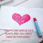 Bible verse i will write my law on their hearts