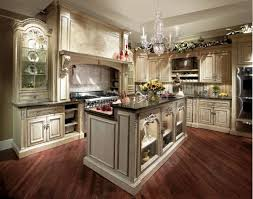 Double Door Cabinets French Country Kitchen Ideas Green Color Wooden Kitchen  Island L Shape Grey Color Granite Countertop Built In In Luxury Farmhouse  ...