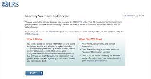 Wel e to the IRS Identity Verification Service