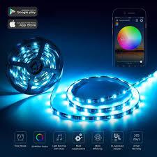 iphone controlled lighting. Nexlux LED Strip Lights, Wifi Wireless Smart Phone Controlled Light Kit 16.4ft 150leds Iphone Lighting S