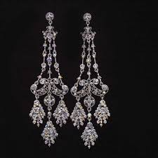antique chandelier earrings wedding image and candle