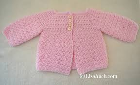 Free Baby Crochet Patterns Beauteous Free Crochet Patterns And Designs By LisaAuch Crochet Baby Cardigan