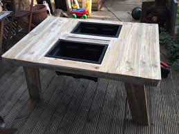 beer wine cooler table made out of