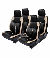 elaxa black leather seat cover for honda civic