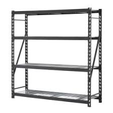 metal storage shelves. edsal 84-in h x w 24-in d 4 metal storage shelves r