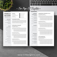 Best Selling Ms Office Word Resume Cv Bundle The Rachel Resume