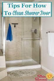 tips hints for how to clean shower door